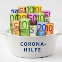 Corona- Hilfe, Geld